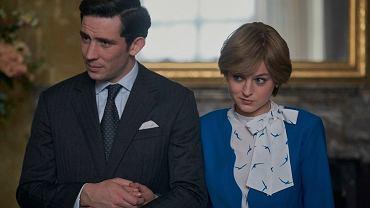 'The Crown' Sezon 4.  Diana (w tej roli Emma Corin) i książę Karol (Josh O'Connor).