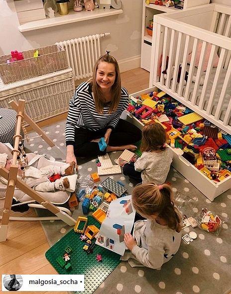 Małgorzata Socha z dziećmi