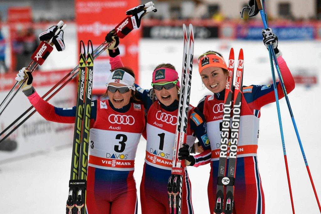 Od lewej: Maiken Caspersen Falla, Ingvild Flugstad Oestberg i Celine Brun-Lie
