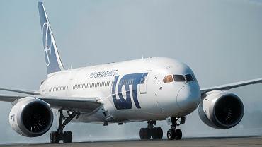 PLL LOT, samolot Boeing 787 Dreamliner.