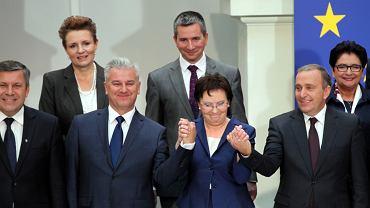 Ewa Kopacz prezentuje nowa Rade Ministrow