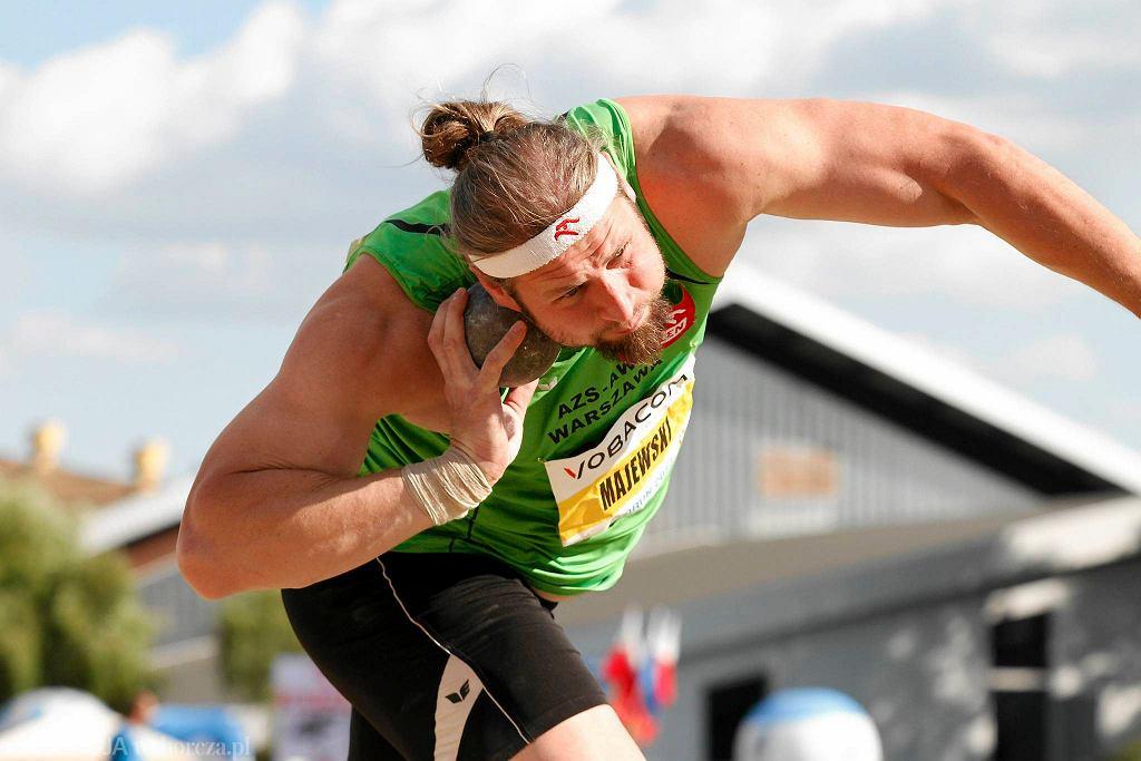 Tomasz Majewski podczas mistrzostwa Polski w lekkoatletyce