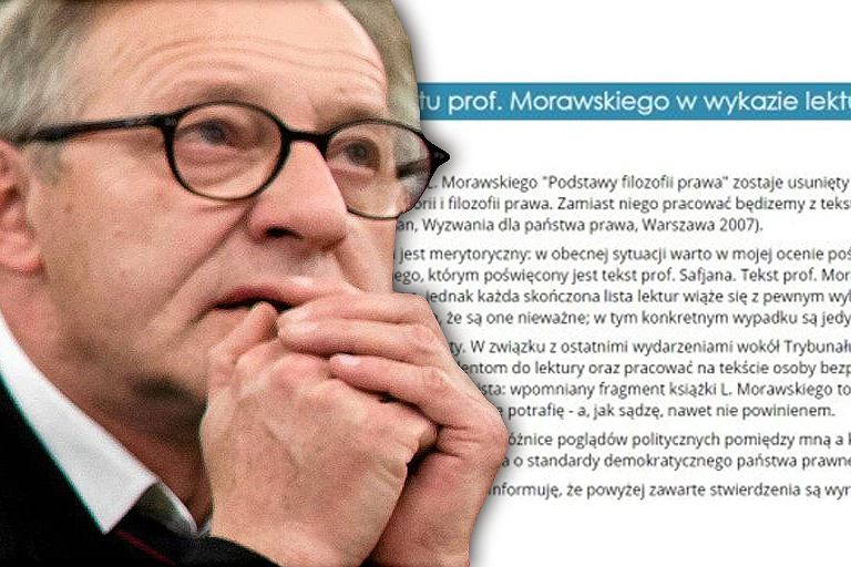 Fragment oświadczenia wykładowcy ws. tekstu prof. Morawskiego