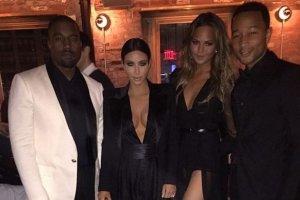 Kanye West, Kim Kardashian, Chrissy Teigen i John Legend