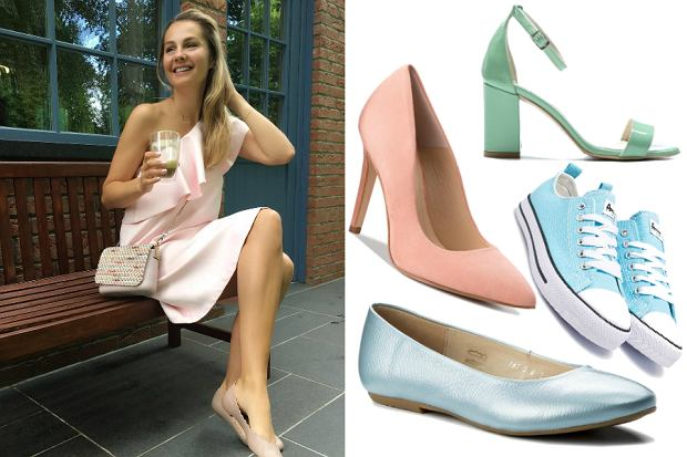 pastelowe buty na lato