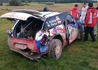 Kubica dachował na testach przed Rajdem Polski