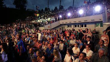 """Kielce, 24 lipca 2016 roku, amfiteatr na Kadzielni.  Koncert """"Alleluja czyli Happy Day"""" zorganizowany z okazji Światowych Dni Młodzieży"""