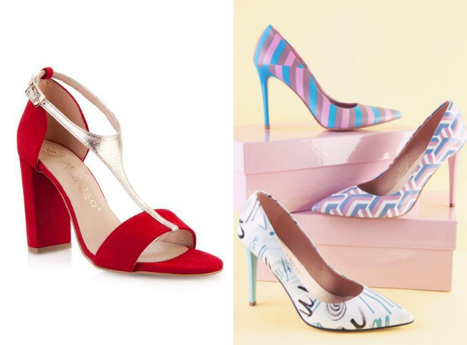 czerwone sandałki i szpilki w wiosennych printach marki arturo vicci