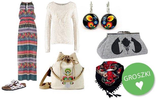 Motywy etniczne na ubraniach i dodatkach