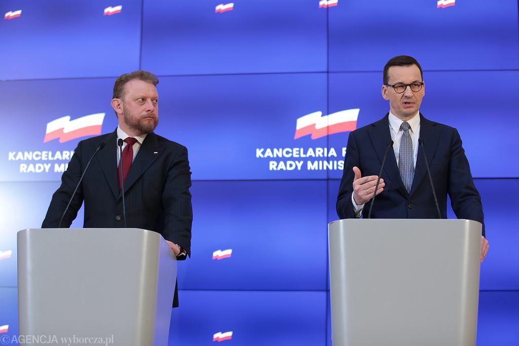 Konferencja Premiera Mateusza Morawieckiego ws rosnacej liczby przypadkw zarazenia koronawirusem
