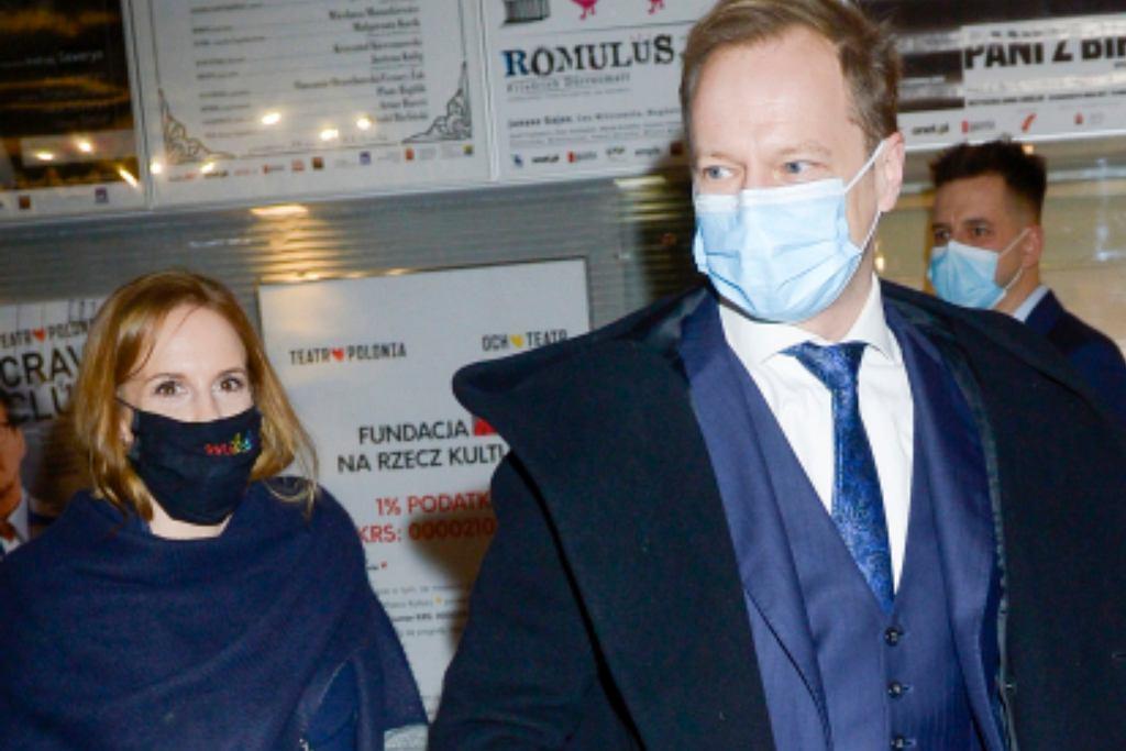 Maciej Stuhr z żoną