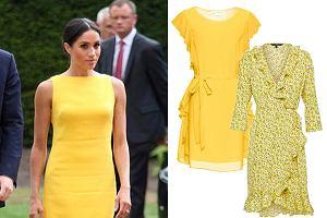 Meghan Markle w żółtej sukience