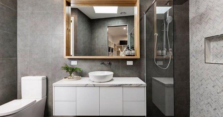 Płytki łazienkowe w szarej wersji