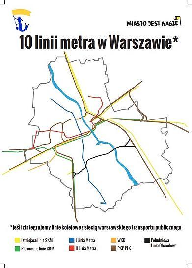 10 linii metra - schemat
