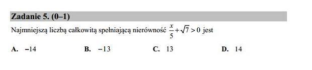 Matura poprawkowa 2016 matematyka, Zad. 5
