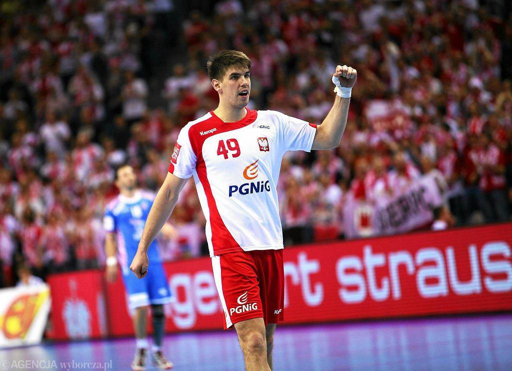 Piotr Chrapkowski podczas meczu Polska - Chorwacja