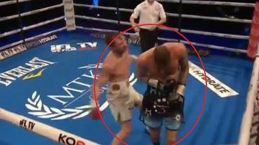 Skandaliczne zachowanie boksera
