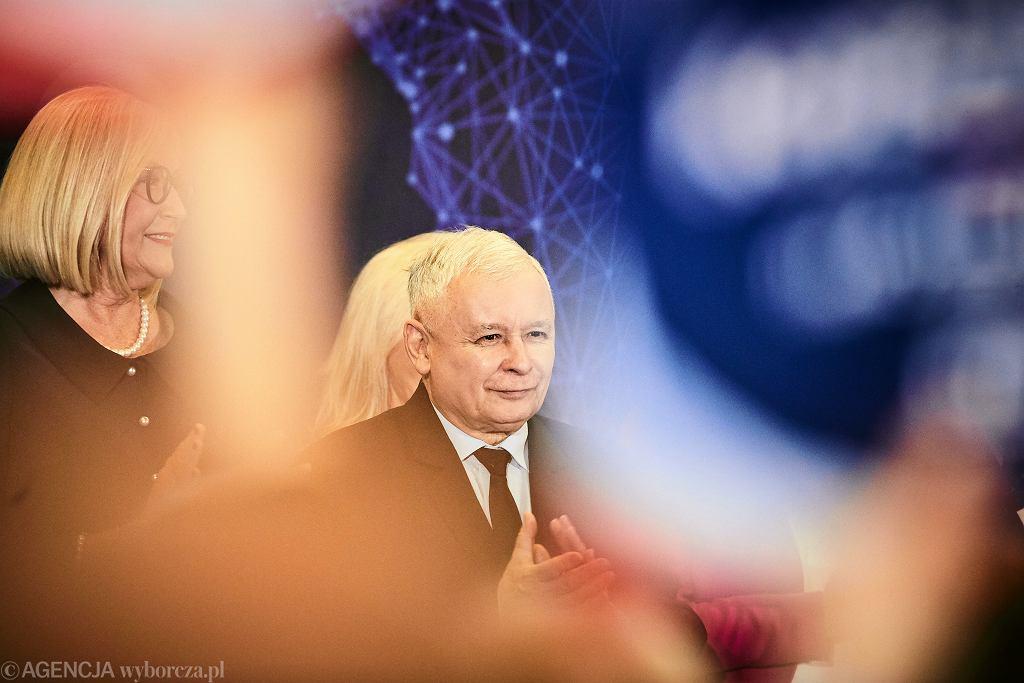 Jarosław Kaczyński na konwencji PiS w Łodzi