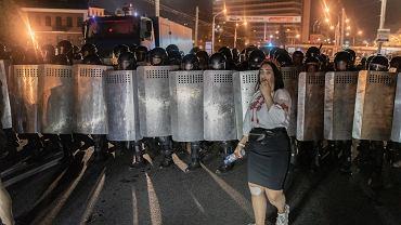 Protesty na ulicach Białorusi po sfałszowanych wynikach wyborów prezydenckich