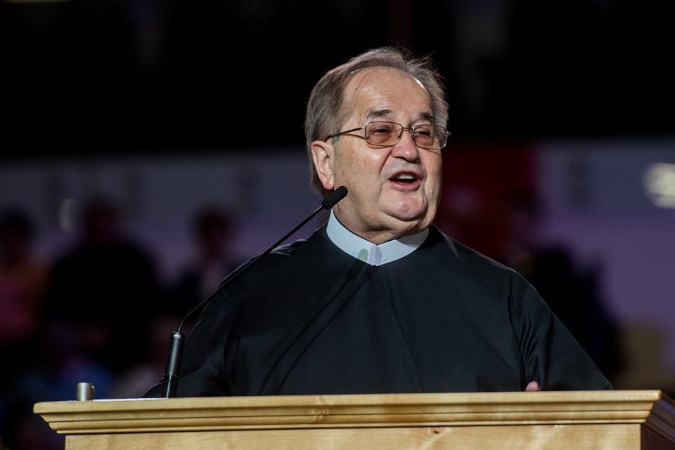Założyciel i szef rozgłośni, o. Tadeusz Rydzyk podczas obchodów 26. urodzin Radia Maryja. Toruń, 2 grudnia 2017