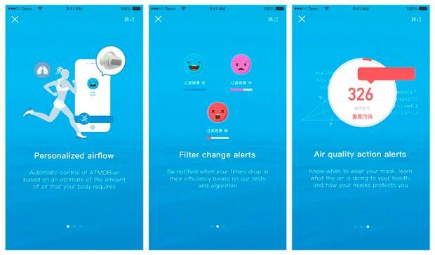ATMOBLUE - smart maseczka i jej aplikacja