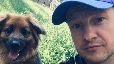 Rafał Mroczek z psem