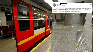 Wejściówki do metra rozrzucone po podłodze