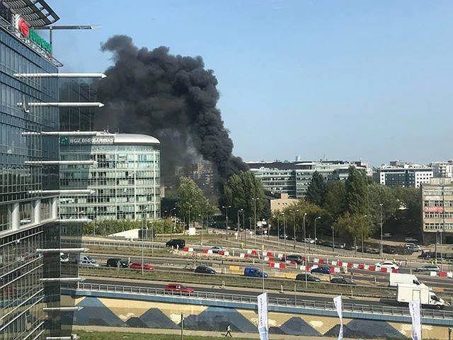 Pożar na ulicy Domaniewskiej