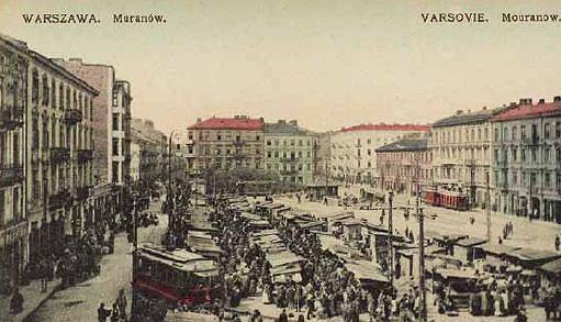 Warszawa żydowska. Nieistniejący dziś Plac Muranowski