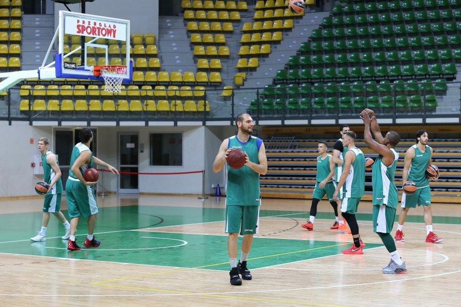 Trening koszykarzy Stelmetu BC Zielona Góra
