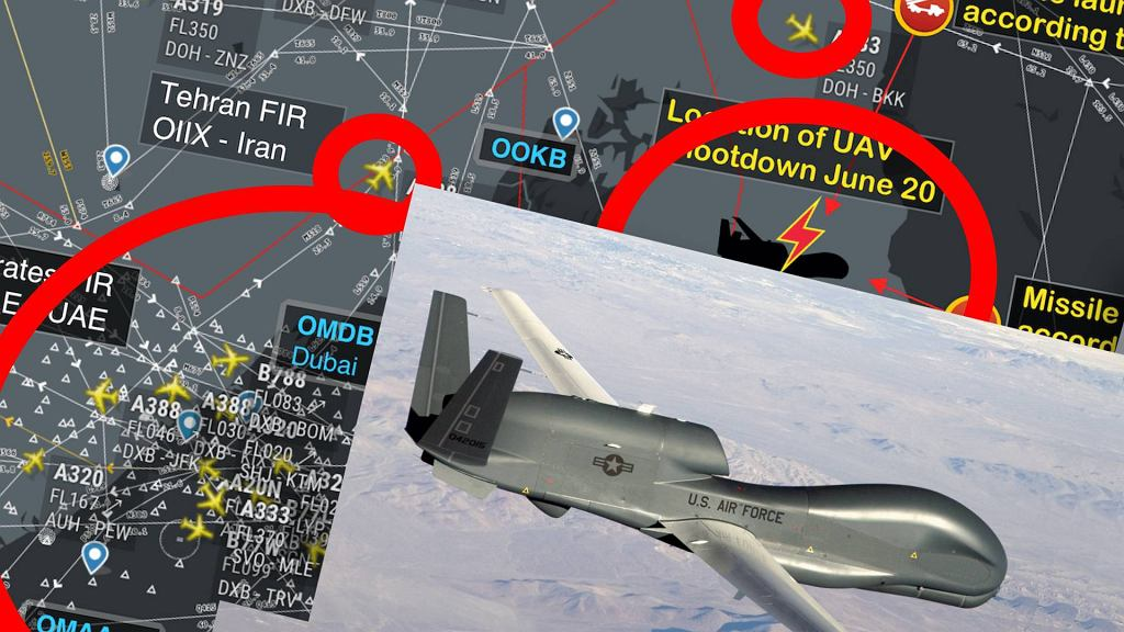 USA zabraniają amerykańskim samolotom wlatywać w przestrzeń powietrzną Iranu - chodzi o rejon, w którym zestrzelono amerykańskiego drona