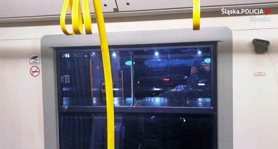 Kobieta uszkodziła wagony w jednym z tramwajów.