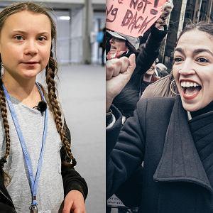 Alexandria Ocasio-Cortez i Greta Thunberg