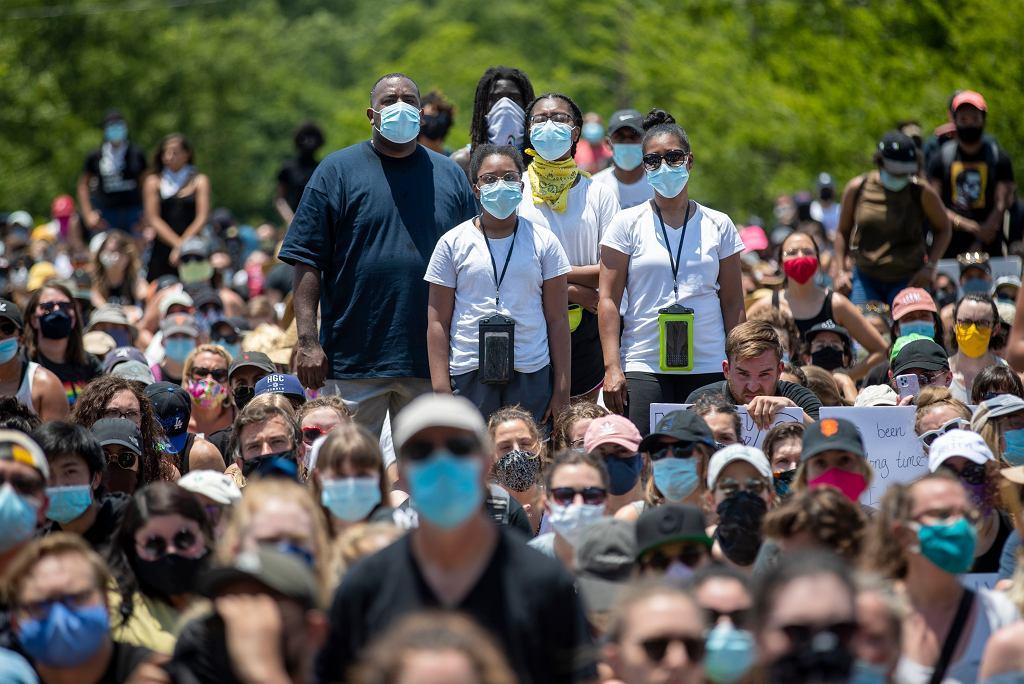Koronawirus w USA - protesty w Teksasie.