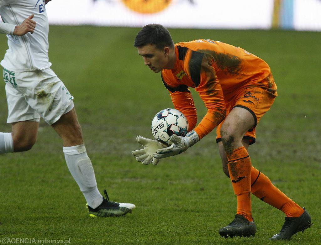 Mateusz Kochalski (Radomiak Radom) podczas meczu z GKS Tychy