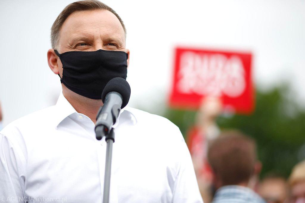 Wybory prezydenckie 2020. Prezydent Andrzej Duda z wizytą w Opocznie