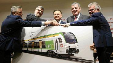 Podpisanie umowy na dostawę 71 pociągów dla Kolei Mazowieckich