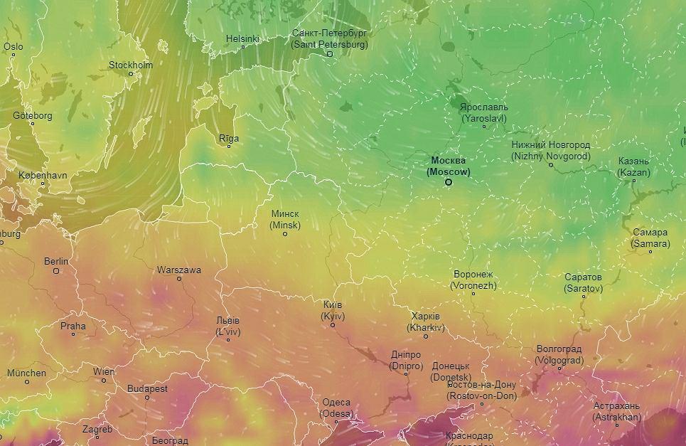 Temperatura w Moskwie