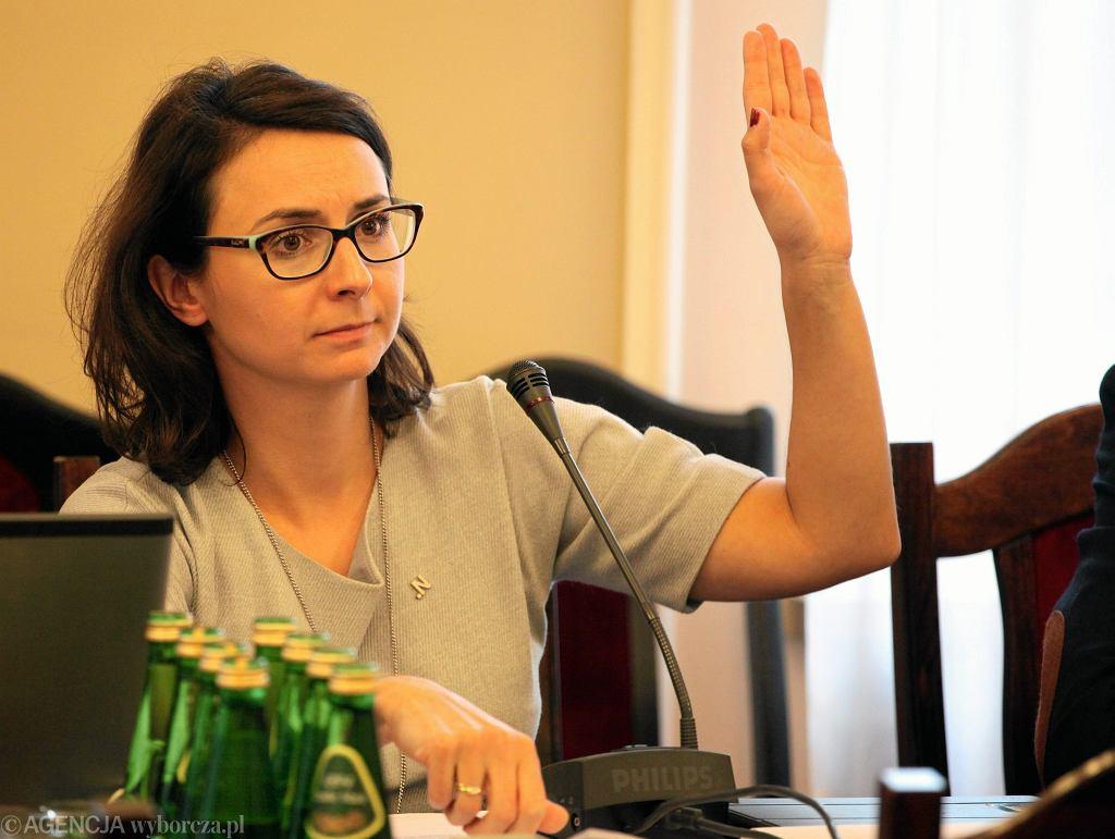 Kamila Gasiuk - Pihowicz na posiedzeniu sejmowej komisji sprawiedliwości i praw człowieka