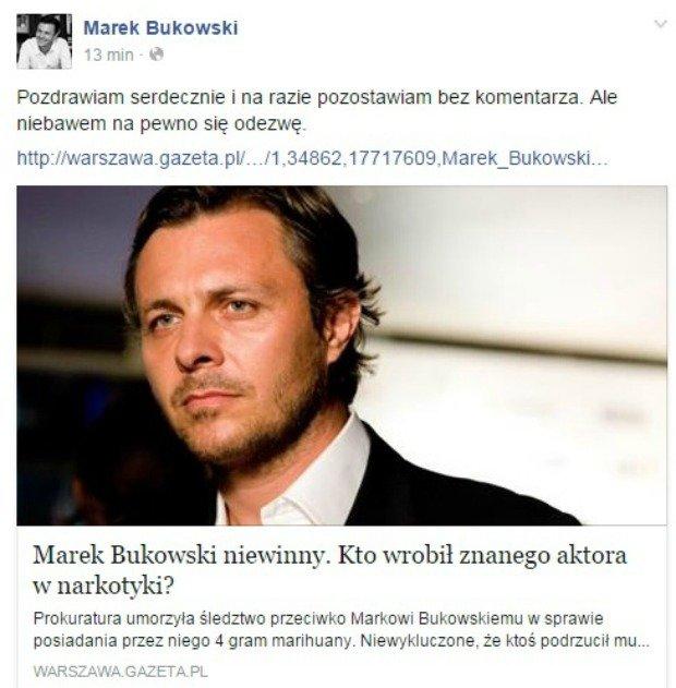 Marek Bukowski komentuje artykuł na Facebooku