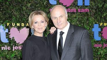 Justyna Pochanke z mężem