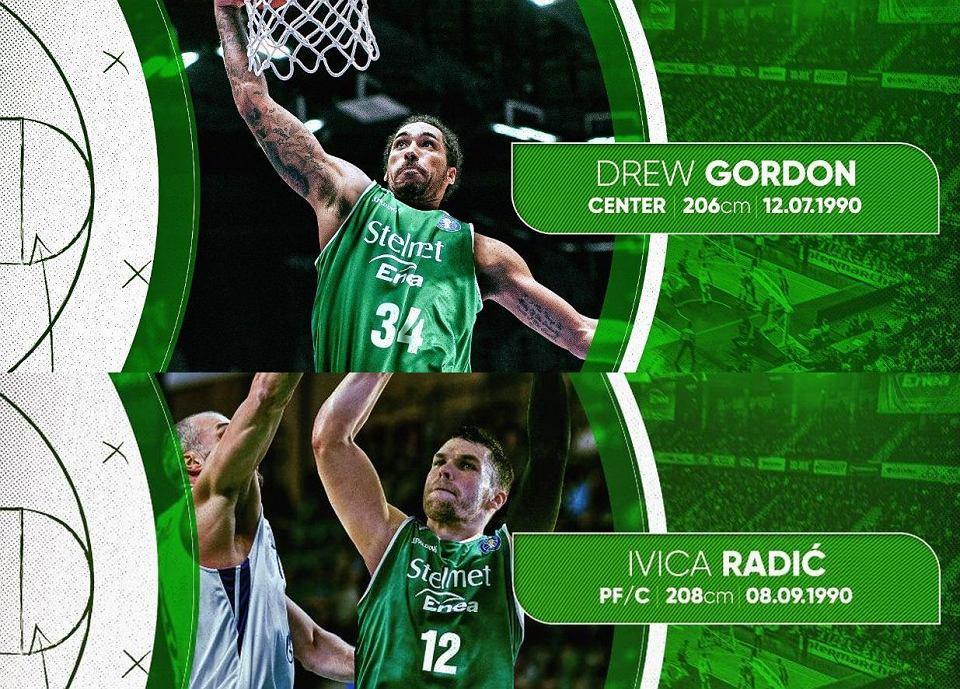 Drew Gordon i Ivica Radić podpisali ze Stelmetem Enea BC Zielona Góra roczne kontrakty na sezon 2019/20