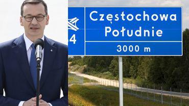 Premier Mateusz Morawiecki podczas uroczystości otwarcia fragmentu autostrady A1. (zdjęcie ilustracyjne, zostało wykonane w sierpniu)