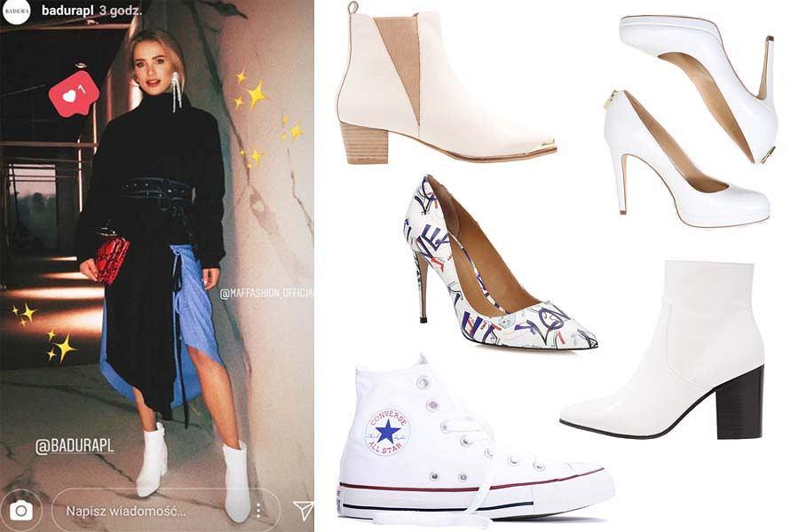 Kolaż, białe buty/Materiały partnera
