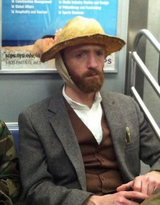 Vincent Van Gogh - portret w metrze