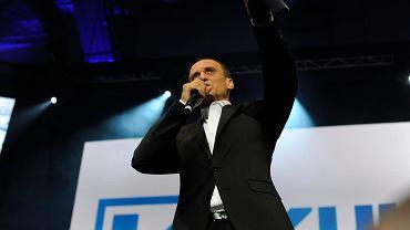Wybory Prezydenckie 2015. Paweł Kukiz podczas wieczoru wyborczego