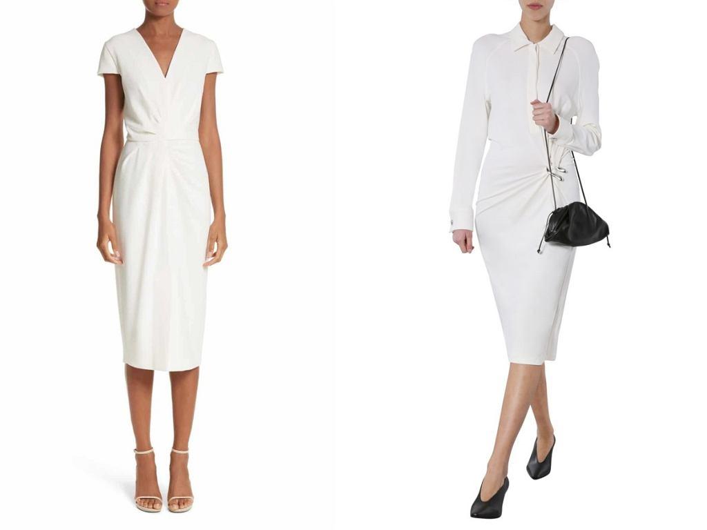 Białe sukienki wizytowe