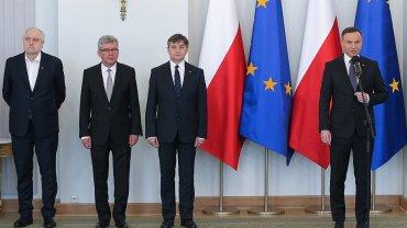 Prezydent Andrzej Duda przyjął ślubowanie od nowego sędziego TK Zbigniewa Jędrzejewskiego.