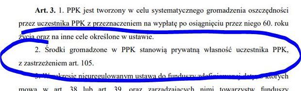 fragment ustawy o PPK