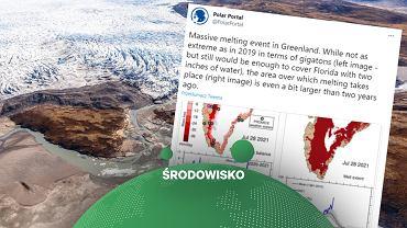 Grenlandia. 'Masywne' topnienie lodu